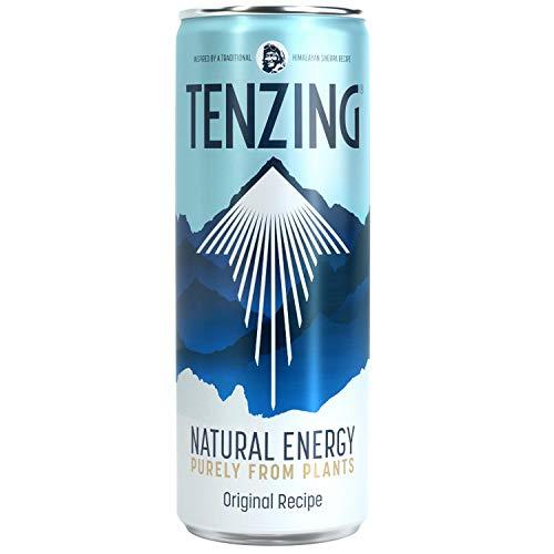 TENZING Natural Energy Drink, Gluten Free, Vegan, & Plant Based Drink, Original Recipe, 250ml (Pack of 12)