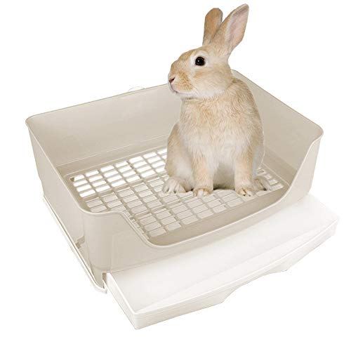 Amakunft Large Rabbit Litter Box with Drawer