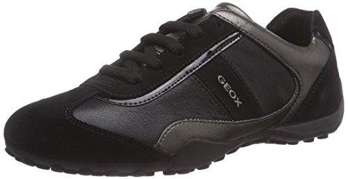 Geox Damen D Snake B Sneaker, Schwarz (BLACKC9999), 35 EU