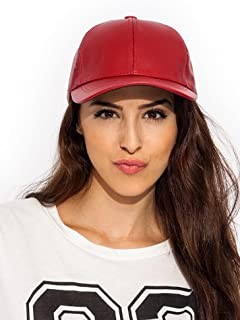 Big Big store Leather Lady Baseball Cap