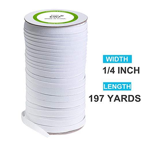 Heavy Elastic String for Crafts DIY Elastic Bands for Sewing 1//4 Inch Elastic Cord Black, 100 Yards-1//4 inch Bedspread Cuff