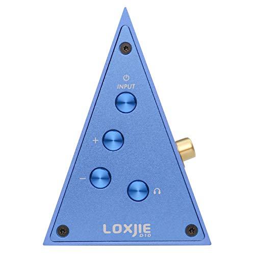LOXJIE D10 Hi-res DAC&Amplificatori per cuffie Optical/Coaxial/USB Convertitori Digitali Audio Stereo (Blu)