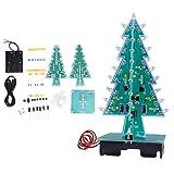 Socobeta USB 3D Árbol de Navidad conveniente LED Árbol de Navidad PCB Estéreo Árbol de Navidad Práctico 4.5 ~ 5v 100% para el hogar (colorido juego de bricolaje)