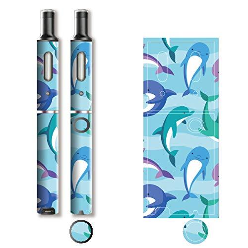 電子たばこ タバコ 煙草 喫煙具 専用スキンシール 対応機種 プルーム テック プラス Ploom TECH+ Ploom Tech Plus イルカ (Dolphin) イメージデザイン 04 イルカ (Dolphin) 01-pt08-0638