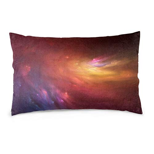 XIEXING Pillow Case Colorful-Galaxy Printed Pillow Cases Soft Chair Seat Bedding Pillowcase Coffee Shop Home Decor 20'' X30