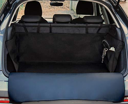 PaulePet Kunstleder Kofferraumschutz Hunde mit Ladekantenschutz in 3 Größen - Universale Autodecke für SUV, Kombis, Kompaktwagen - Kofferraumschutzdecke wasserabweisend & pflegeleicht & Kratzfest