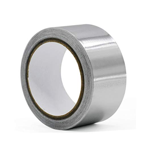 Aluminiumband Alufolie Alu-Klebeband slbstklebend hitzebeständig leitfähig Anti-Aging-Alufolienband Rolle Klebefolie Reparaturband zum Abdichten und Dämmen Isolierband 1Rolle,silber