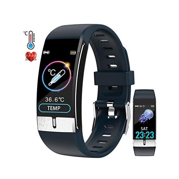 Pulsera de Actividad inteligente IP68 con medición de temperatura corporal para hombres y mujeres, con WhatsApp de… 1