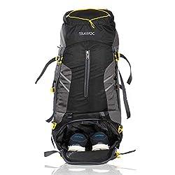 TRAWOC 65 L Travel Backpack for Hiking Trekking Bag Camping Rucksack MHK001 1 Year Warranty (Black),TRAWOC