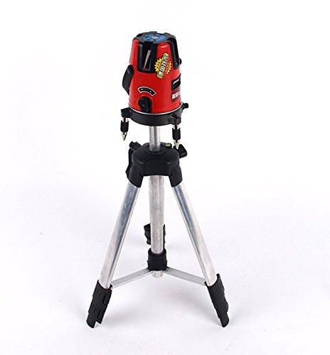 Livella laser a 360°, autolivellante, con 5linee, 6punti di misurazione, misuratore trigonometrico con treppiede