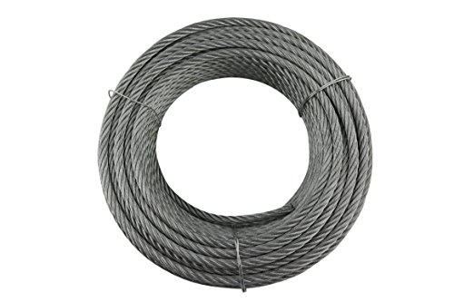 Cables y eslingas Y10619R02508 Y10619R02508-Cable 6 x 19 + 1 (8 mm, Rollo de 25 m, Acero galvanizado)