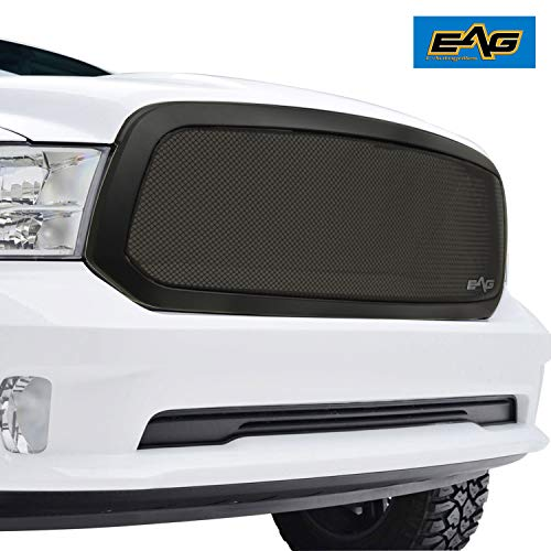 EAG Replacement Grille Black Stainless Steel Wire Mesh with ABS Shell Fit for 13-18 Dodge Ram 1500