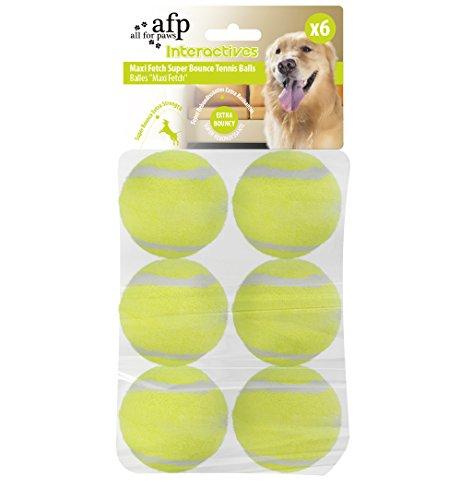 All For Paws - Hyperfetch - Juguete interactivo para lanzar pelotas a los perros, máquina de lanzar pelotas de tenis para entrenamiento de perros, 3 pelotas incluidas