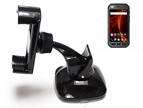 Für Caterpillar Cat S41 Dual-SIM Kompakte Halterung Windschutzscheibe/Armaturenbrett Schwarz Autohalterung KFZ Halter Scheiben-Halterung Armaturenbrett-Halter Für Caterpillar Cat S41 Dual-SIM