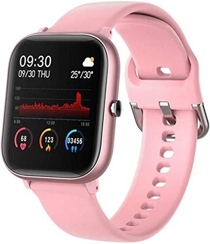 IP67 Reloj Inteligente Pulsera Hombres Mujeres Deporte Reloj Fitness Monitor de Ritmo Cardíaco Monitor de Sueño Reloj Inteligente Rastreador Rosa
