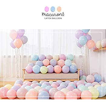 "Party Pastel Balloons 100 Pcs 10"" Macaron Candy Colored Latex Balloons for Birthday Wedding Engagement Anniversary Christmas Festival Picnic or Any Friends & Family Party Decorations- Multicolor"