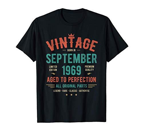 Vintage Clasico septiembre 1969 Camiseta - Nacido en 1969 Camiseta