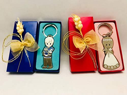 Llaveros comunión GRABADOS de niña o niño (pack 10 unidades) regalos detalles PERSONALIZADOS para invitados
