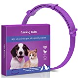 Sansoak Adjustable Anxiety Dog Cat Calming Collar, Nature Safe Waterproof Long Lasting Claming Effect Pet Anxiety Relief 24inch/62cm,1 Pack (24inch/62CM)