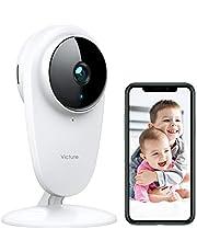 Victure Caméra Bébé Babyphone Caméra Moniteur Caméra de WiFi Surveillance 1080P Caméra WiFi sans Fil, avec Vision Nocturne Détection de Mouvement, Caméra Bébé avec Audio Bidirectionnel