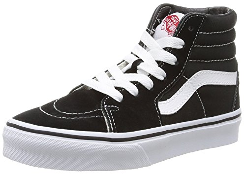 Vans Kids SK8-HI Hohe Sneakers, Schwarz (Black/True White), 34 EU