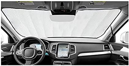 AutoHeatshield Sunshade for Mercedes Sprinter Van with Rearview Mirror with Windshield Mounted Sensor 2016 2017 2018 Custom Fit Windshield Sun Shade