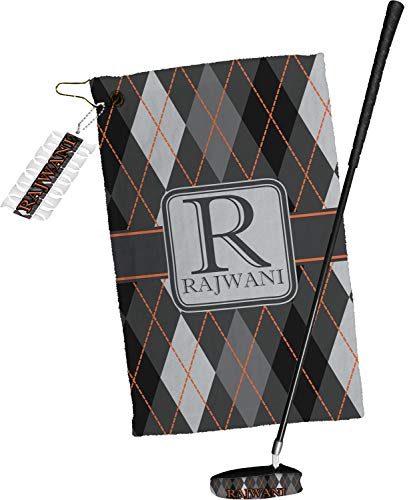 Affordable YouCustomizeIt Modern Chic Argyle Golf Towel Gift Set (Personalized)