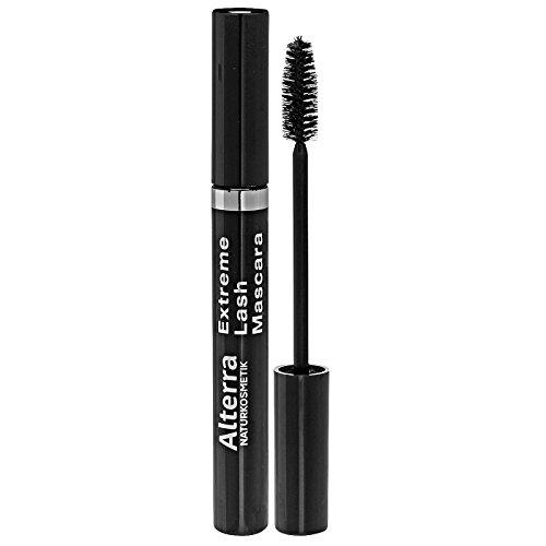 Alterra Extreme Lash Mascara 7 ml Farbe 02: Dark Brown, für den ultimativen Allround-Effekt Definition, Länge & Volumen, zertifizierte Naturkosmetik
