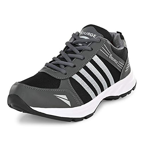 Bourge Men Loire-Z167 Grey and White Running Shoes-7 UK (41 EU) (8 US) (Loire-289-07)