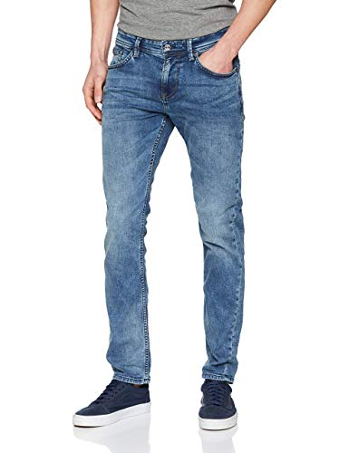 TOM TAILOR Denim Herren Slim Piers Jeans, Light Stone Wash 10280, 33W / 32L