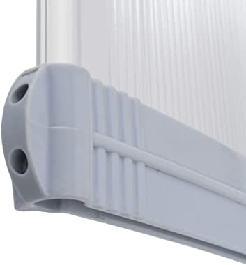 INLIFE Door Window Outdoor Awning,Polycarbonate Sheet Door Canopy Window Awning Cover,Snow Rain VU Protection Outdoor Patio P