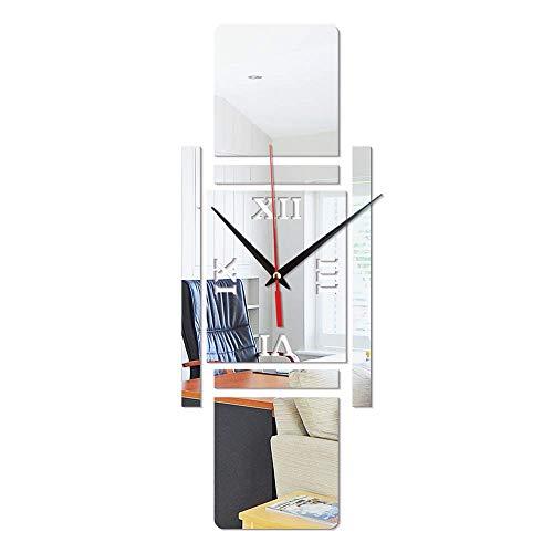 Präzision wanduhr DIY Stumm Wanduhr Kreative Nussknacker Soldat Wandaufkleber Uhr Bekleidungsgeschäft Café Dekoration Geschenke (ohne Batterie) Dekoration (Farbe: Silber)