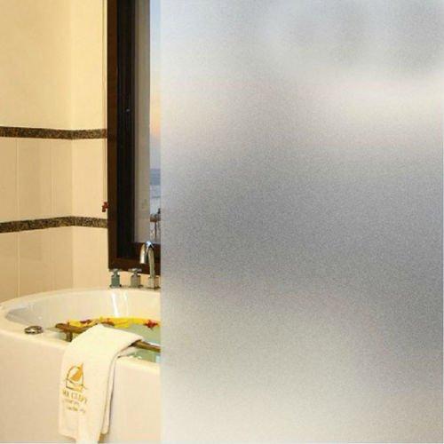 DODOING 60x1000cm Fensterfolie Sichtschutzfolie Milchglasfolie Window Film