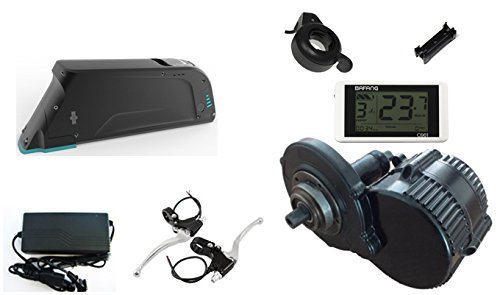 8FUN Electric Bike Bafang Mid Drive Crank Motor kit 750w with Lithium Ion Battery