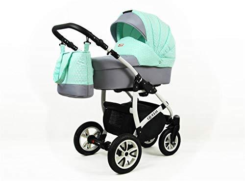 Cochecito de bebe 3 en 1 2 en 1 Trio Isofix silla de paseo Queen by SaintBaby Mint 3in1 con Silla de coche