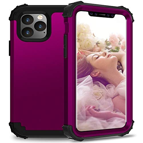 Voor mobiele telefoon case Ty Voor iPhone 11 Pro Max PC+ Silicone Driedelige Anti-drop Mobiele Telefoon Bescherming Bback Cover(Groen), Drak purple