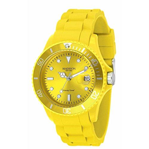 Reloj amarillo mujer análogo de cuarzo