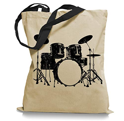 Ma2ca Drums Drummer Schlagzeuger Tragetasche/Bag/Jutebeutel WM2-black