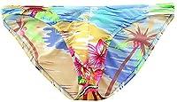 ビキニブリーフ セクシー 薄い パンツ 南国ハワイ風 花柄 ビキニ ローライズ エンスタイル メンズパンツ 過激下着 勝負下着 セクシー 三角パンティー メンズ 通気性 カジュアル インナーパンツ 男性下着