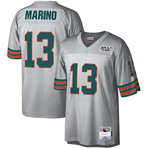 Dan Marino Men's Platinum 100 Retired Player Legacy Jersey (3X-Large)