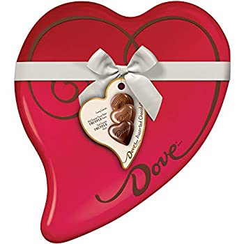 Dove Valentine s Assorted Chocolate Candy Heart Gift Box 9.82-Ounce 24-Piece Tin
