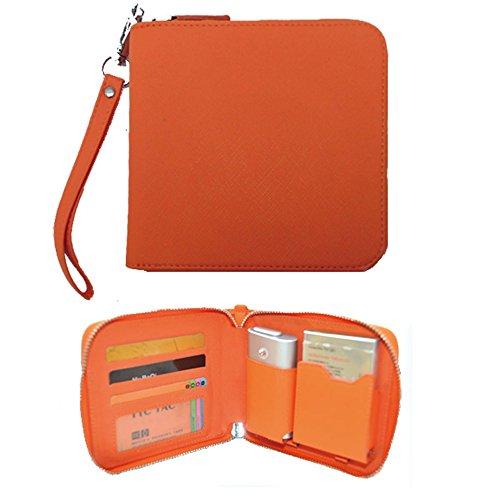 glo グロー ケース (TN5)【オレンジ】電子タバコケース ファスナー式 全部収納 glo087 Glo087