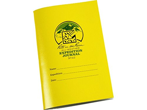 """Rite in the Rain All Weather Stapled Notebook, 4 5/8"""" x 7"""", Yellow Cover, Expedition Journal (No. 512)"""