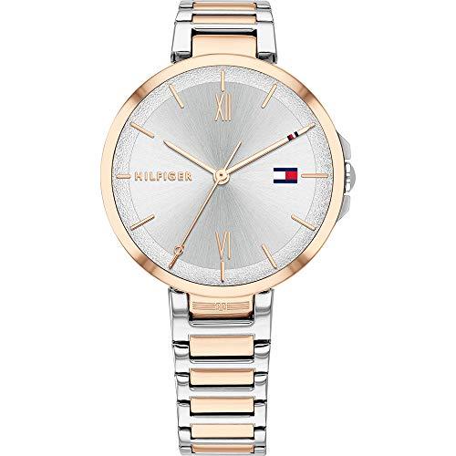 Tommy Hilfiger Damen Analoger Quarz Uhr mit Edelstahl Armband 1782209