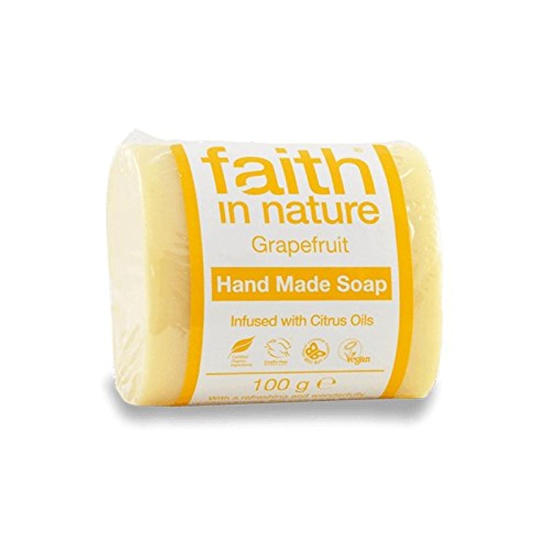 メカニックまだ化学薬品Faith in Nature Grapefruit Soap 100g (Pack of 6) - 自然グレープフルーツ石鹸100グラムの信仰 (x6) [並行輸入品]