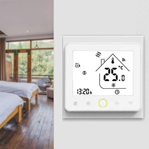 Wifi Smart Thermostat, Programmable Home Thermostat, Mobile App Control Supports Remote Control Temperature, Safe And Durable For Home Office Room