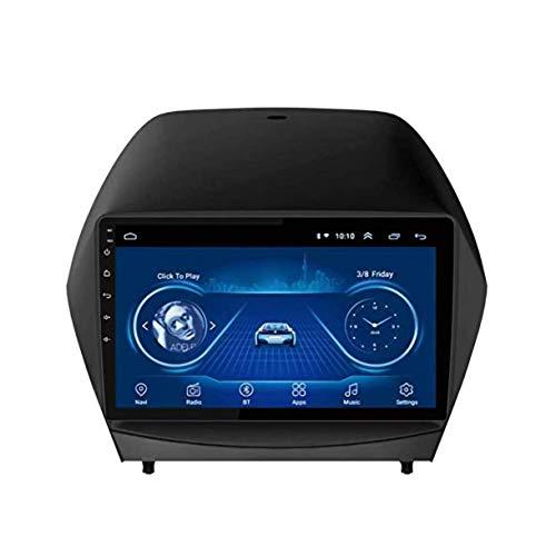 Lour estéreo de automóvil de Doble DIN con Reproductor de CD Bluetooth DVD de navegación GPS Navi Bluetooth para Hyundai IX35 Tucson 2010-2013 Serie HD capacitiva Espejo de la Pantalla tá.