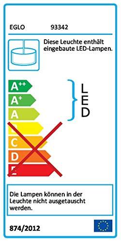 EGLO hanglamp, staal, geïntegreerd, eiken-natuur/wit, 97 x 8,5 x 110 cm