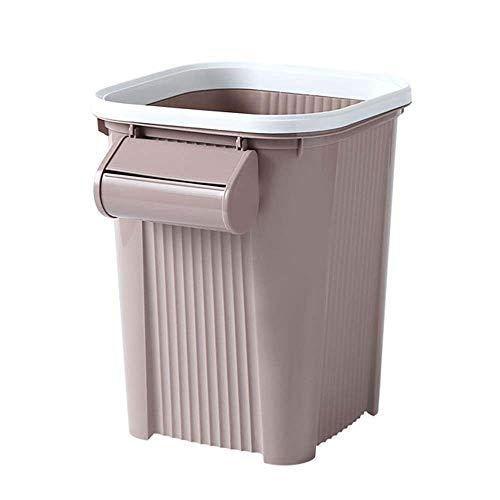 Lecez Automatique ensachage Trash Can Change Sac Automatique d'extraction Salon Salle de Bain Cuisine Bureau Toilettes Corbeille à Papier Kaki, boîte Bleue, Livre Vert 8 litres 4 litres