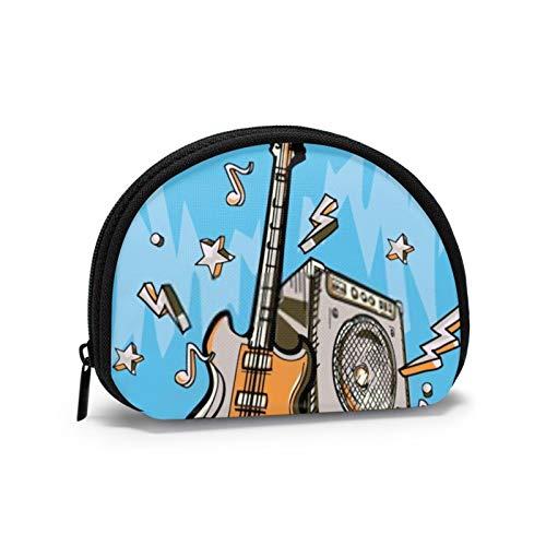 Diseño de música, amplificador y notas de guitarra, monedero para hombre, con...